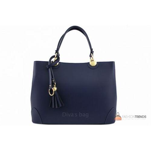 Итальянская кожаная сумка DIVAS Grazia M8938 синяя