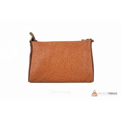 Итальянская кожаная сумка DIVAS Trasea TR 969 коньячная