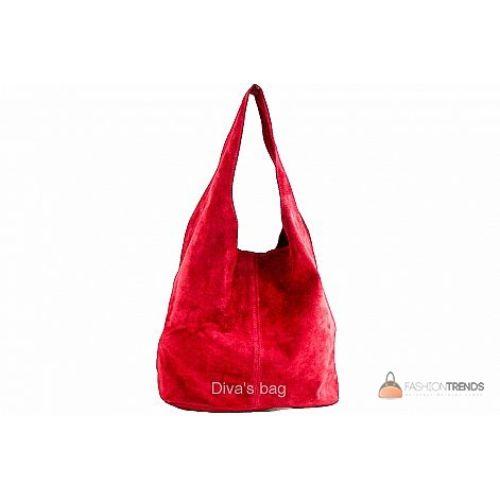 Итальянская замшевая сумка DIVAS MONICA BS15206 красная