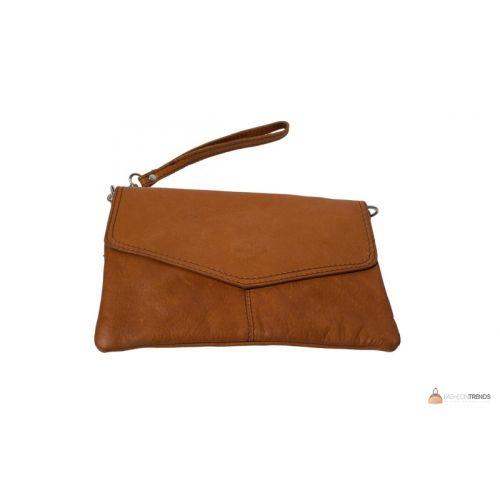 Итальянский кожаный клатч DIVAS DIANA BM15212 коньячный