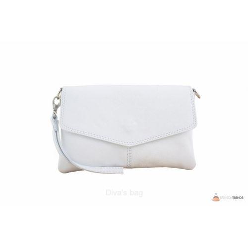 Итальянский кожаный клатч DIVAS DIANA BM15212 белый