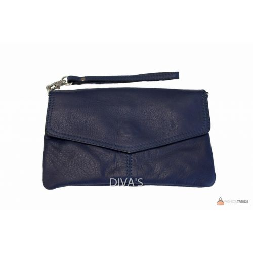 Итальянский кожаный клатч DIVAS DIANA BM15212 темно-синий