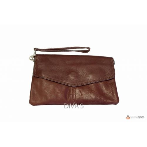 Итальянский кожаный клатч DIVAS DIANA BM15212 коричневый