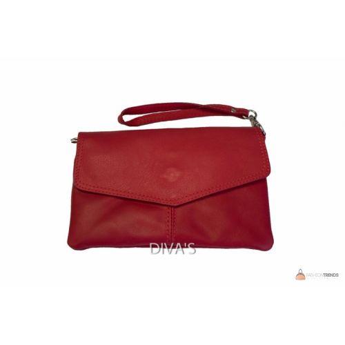 Итальянский кожаный клатч DIVAS DIANA BM15212 красный