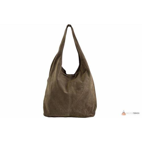 Итальянская замшевая сумка DIVAS MONICA BS15206 тауп