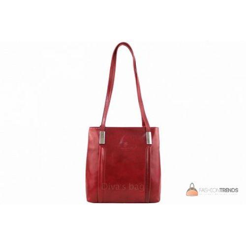 Итальянская кожаная сумка DIVAS Zarina S7027 красная