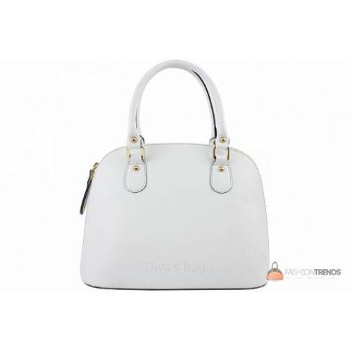 Итальянская кожаная сумка DIVAS Megan M8935 белая