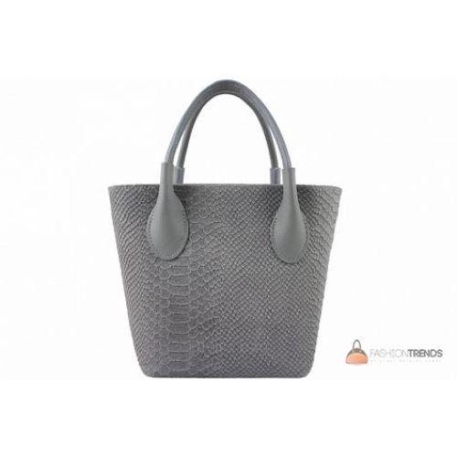 Итальянская кожаная сумка DIVAS Valeria M8931 серая