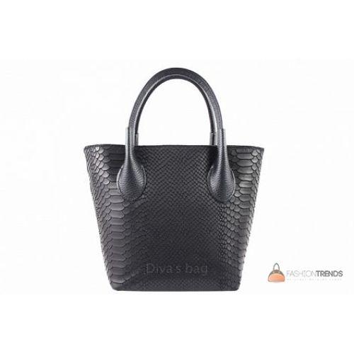 Итальянская кожаная сумка DIVAS Valeria M8931 черная