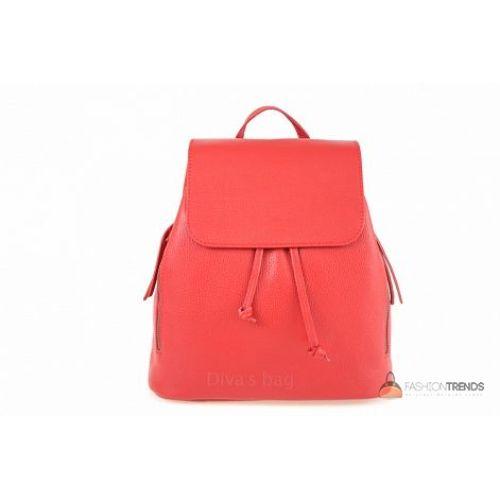 Итальянский кожаный рюкзак DIVAS Zelinda S7068 красный