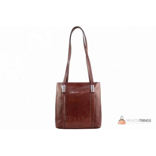 Итальянская кожаная сумка DIVAS Zarina S7027 коричневая