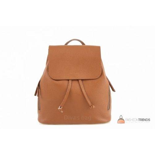 Итальянский кожаный рюкзак DIVAS Zelinda S7068 коньячный