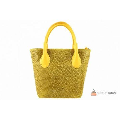 Итальянская кожаная сумка DIVAS Valeria M8931 желтая