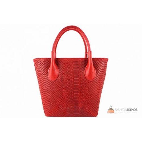Итальянская кожаная сумка DIVAS Valeria M8931 красная