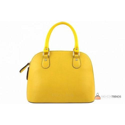 Итальянская кожаная сумка DIVAS Megan M8935 желтая