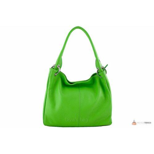 Итальянская кожаная сумка DIVAS ASIA S6814 зеленая