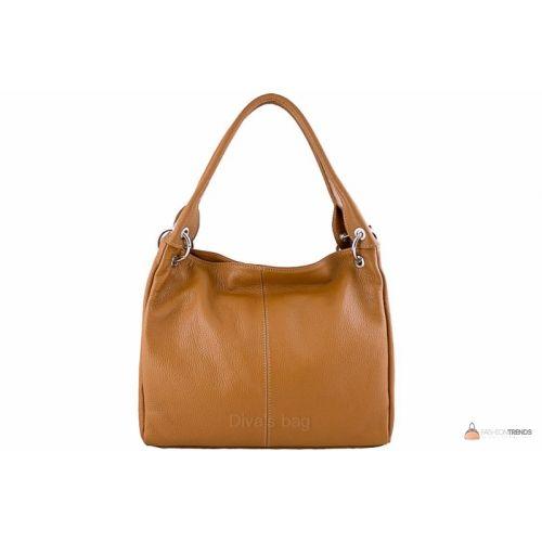 Итальянская кожаная сумка DIVAS ASIA S6814 коньячная