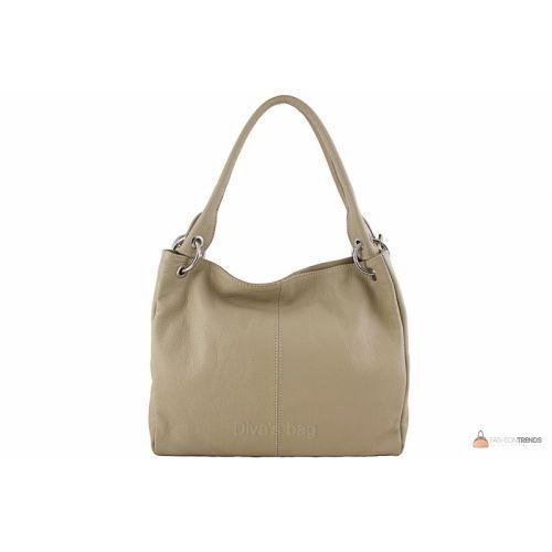 Итальянская кожаная сумка DIVAS ASIA S6814 тауп