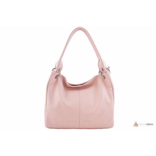 Итальянская кожаная сумка DIVAS ASIA S6814 розовая