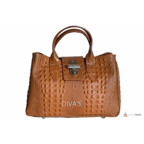 Итальянская кожаная сумка DIVAS LAURA BM11205 коньячная