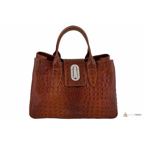Итальянская кожаная сумка DIVAS LAURA BM11205 коричневая