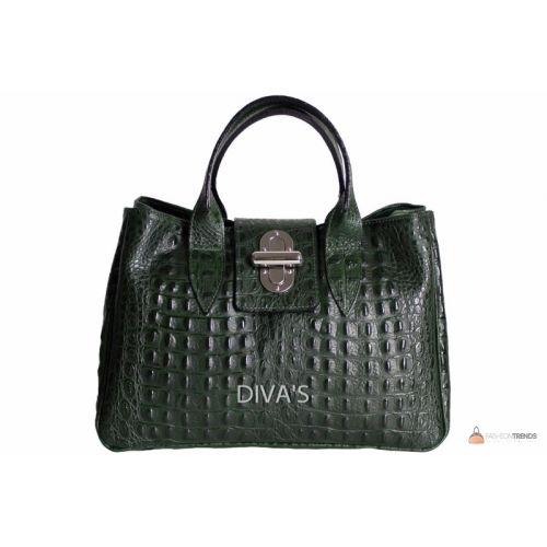 Итальянская кожаная сумка DIVAS LAURA BM11205 темно-зеленый