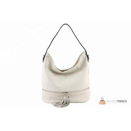 Итальянская кожаная сумка DIVAS Klara S7022 бежевая