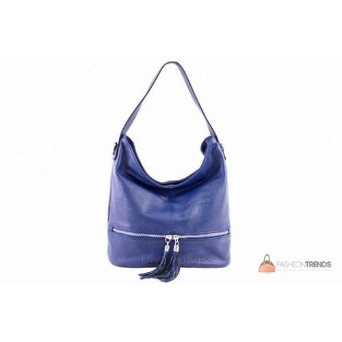 Итальянская кожаная сумка DIVAS Klara S7022 синяя