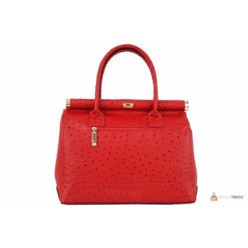 Итальянская кожаная сумка DIVAS GILDA M8835 красная