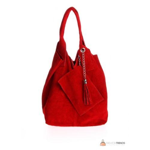 Итальянская замшевая сумка DIVAS ARIANNA S6813 красная