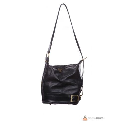 Итальянская кожаная сумка DIVAS INGRID S6940 черная