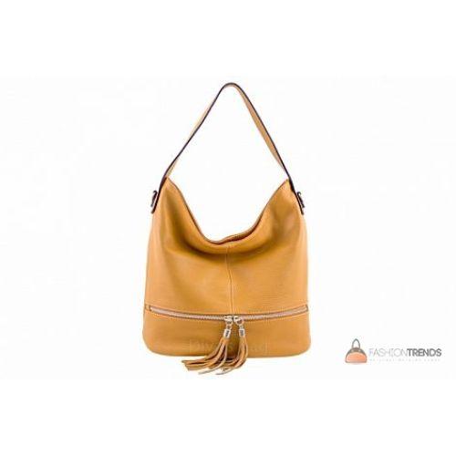 Итальянская кожаная сумка DIVAS Klara S7022 коньячная