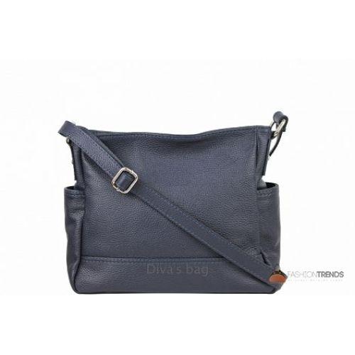 Итальянская кожаная сумка DIVAS Sherry S7064 темно-синяя