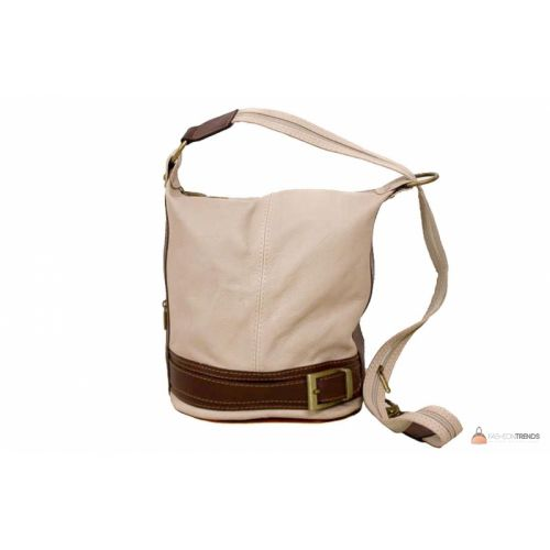 Итальянская кожаная сумка DIVAS INGRID S6940 бежевая