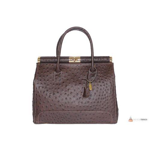 Итальянская кожаная сумка DIVAS GILDA M8835 темно-коричневая