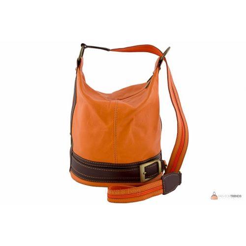 Итальянская кожаная сумка DIVAS INGRID S6940 оранжевая