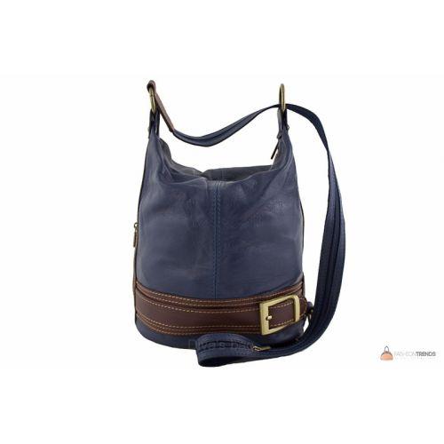 Итальянская кожаная сумка DIVAS INGRID S6940 темно-синяя