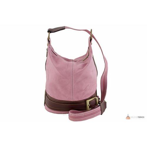 Итальянская кожаная сумка DIVAS INGRID S6940 розовая