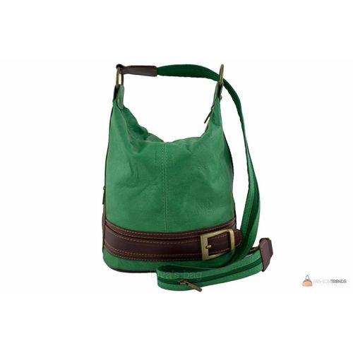 Итальянская кожаная сумка DIVAS INGRID S6940 зеленая
