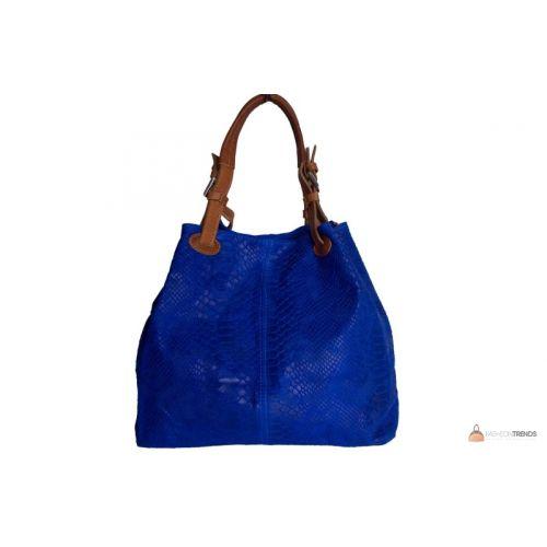 Итальянская кожаная сумка DIVAS IRIS S6929 синяя