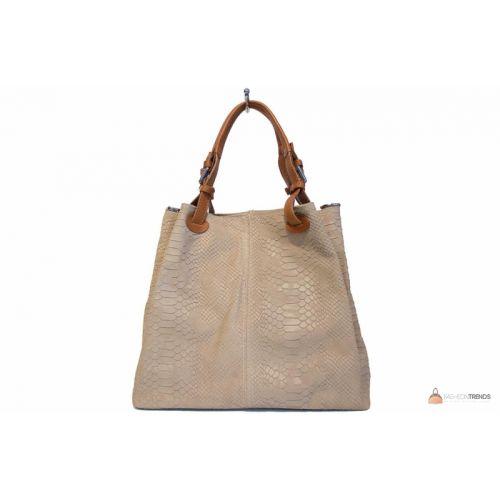 Итальянская кожаная сумка DIVAS IRIS S6929 бежевая