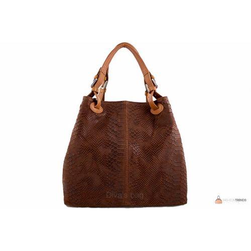 Итальянская кожаная сумка DIVAS IRIS S6929 коричневая