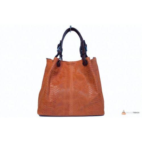 Итальянская кожаная сумка DIVAS IRIS S6929 оранжевая