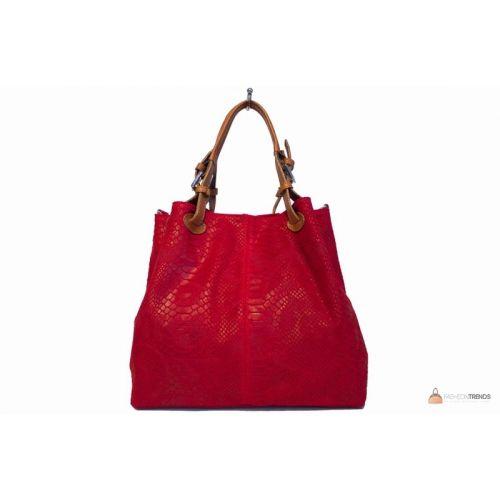 Итальянская кожаная сумка DIVAS IRIS S6929 красная