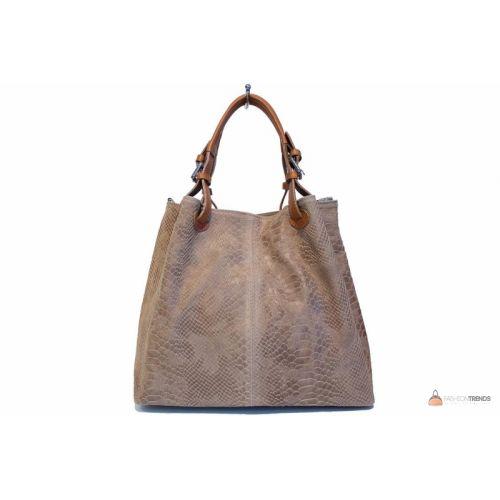 Итальянская кожаная сумка DIVAS IRIS S6929 тауп