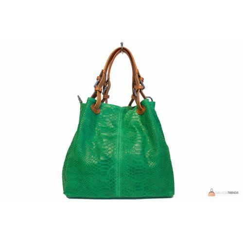 Итальянская кожаная сумка DIVAS IRIS S6929 зеленая