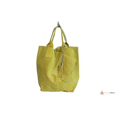 Итальянская замшевая сумка DIVAS ARIANNA S6813 желтая