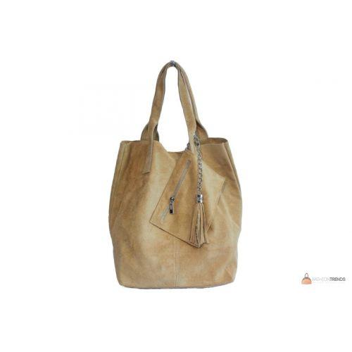 Итальянская замшевая сумка DIVAS ARIANNA S6813 песочная