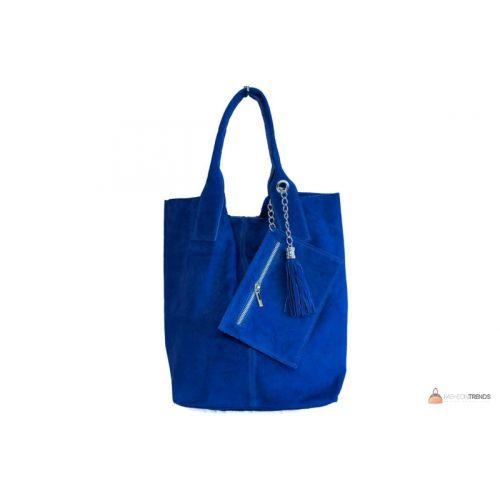 Итальянская замшевая сумка DIVAS ARIANNA S6813 синяя
