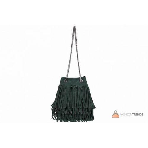 Итальянская замшевая сумка DIVAS Naima TR977 зеленая